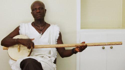 Laemouahuma Daniel Jatta with Akonting