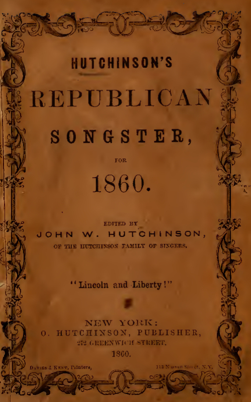 Hutchinson's Republican Songster