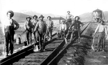 Paddy Works on the Railway