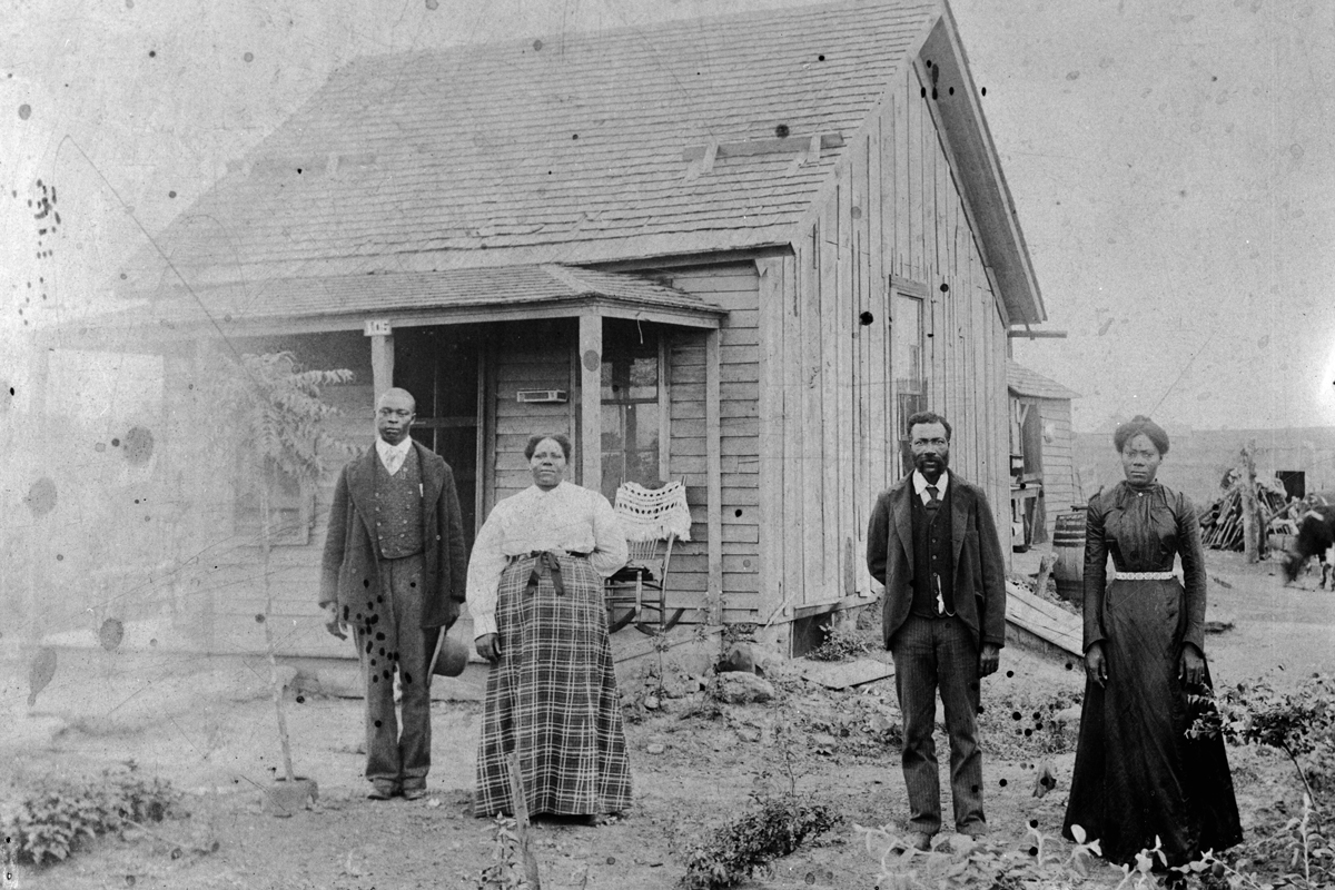Homesteaders in Nicodemus, Kansas