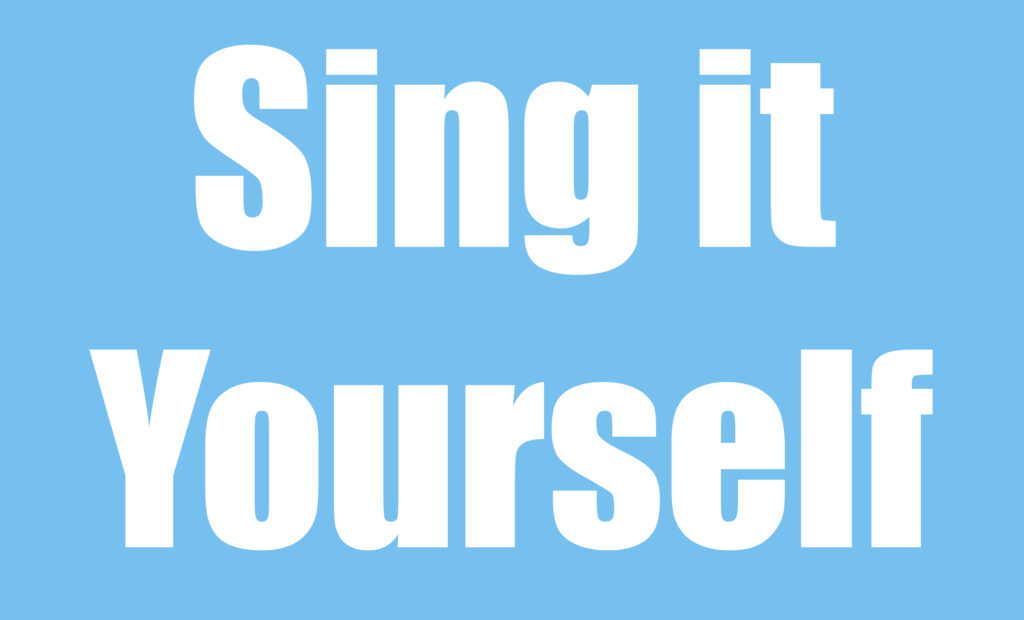 Sing it Yourself