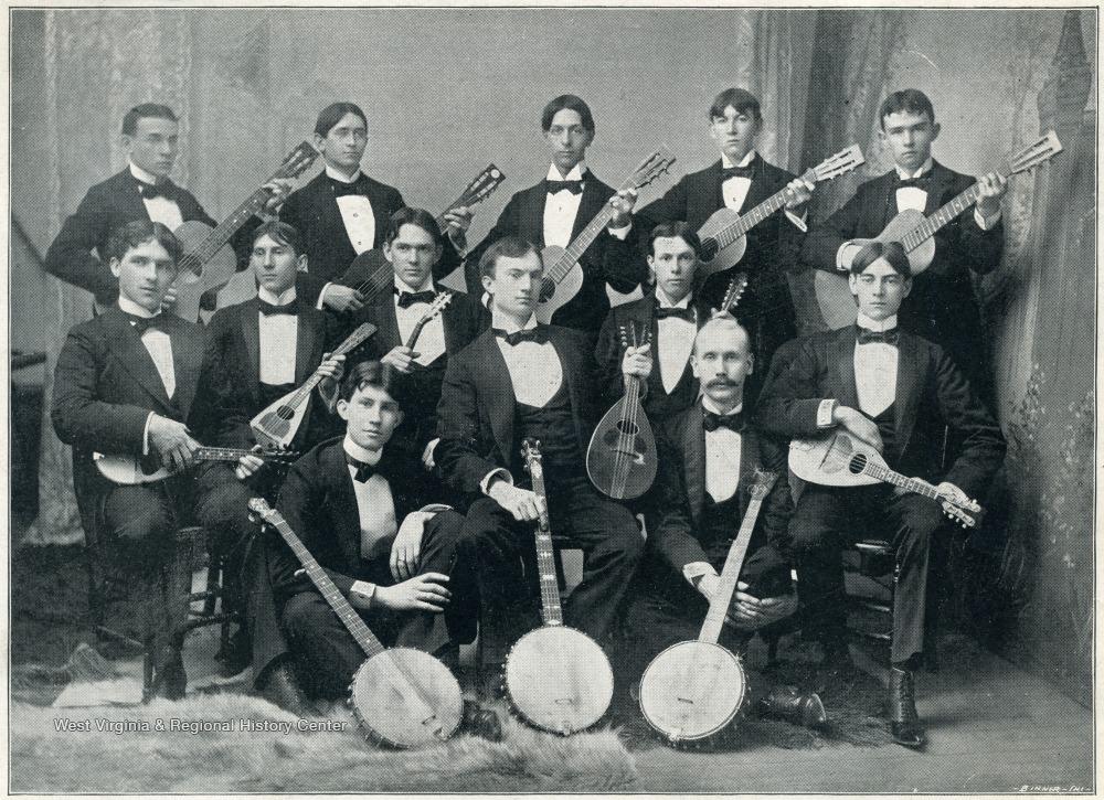 Banjo, Mandolin, and Guitar Club at West Virginia University in 1896